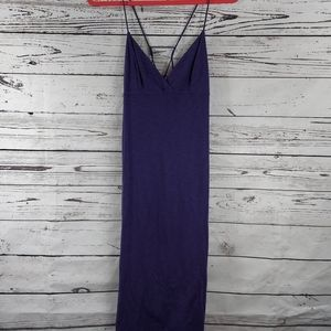 The t refinery purple v neck maxi dress